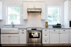 White Apron Kitchen Sink Kitchen Enovated Kitchen With White Subway Tile Marble And