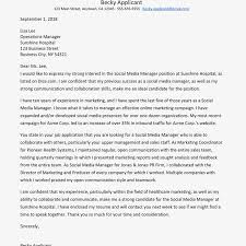 Example Of Executive Cover Letters Social Media Manager Resume And Cover Letter Examples