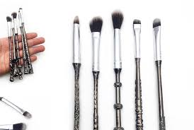 what s in the harry potter makeup brush collection you can officially put on eye makeup with a wand