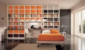 Orange Bedroom Wallpaper Bookshelf For Bedroom