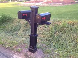 double mailbox designs. Newport Double Mailbox Post Precision Vinyl Systems Inc Regarding Decor 16 Designs