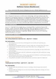 Software Intern Resume Samples QwikResume Gorgeous Mysql Resume