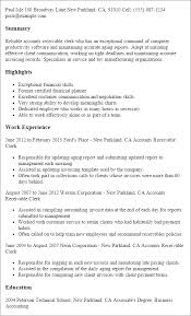Resume Templates: Accounts Receivable Clerk
