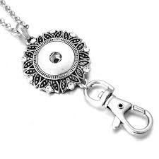new snap jewelry flower snap necklace vine round 18mm snap keychains keyrings lanyard diy pendant necklace ons jewelry