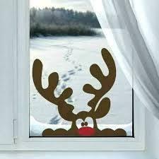 Bildergebnis Für Christmas Window Decorations Pinterest