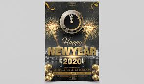 new year s template happy 2020 new years free psd flyer template studioflyers com