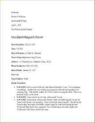 How To Write An Incident Report In Nursing New Company Driver