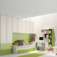 convertible furniture small spaces. Cream And Lime Green Kids Room Furniture Set Contemporary Modern Design Convertible Small Spaces