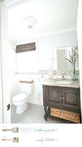 tranquility benjamin moore bathroom new farmhouse neutral paint color scheme cottage powder room with gray home