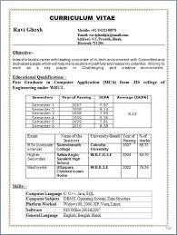 Resume Format For Pharmacy Freshers It Resume Cover Letter Sample