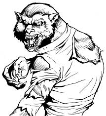Small Picture Monstrous Werewolf coloring pages free printable Fantasy