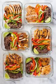 Weekly Lunch Prep Healthy Chicken Fajitas Meal Prep