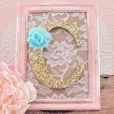 pink shabby chic nursery decorative wall letter