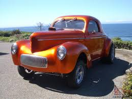 Willys Gasser Coupe with 540 cid Big Block Chevy TCI Turbo 400 ...