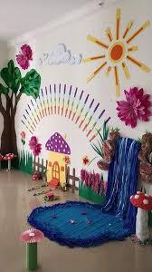 Classroom wall hanging decoration ideas wall decor diy. School Decoration Ideas For Spring Season K4 Craft