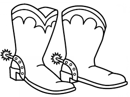 Catchy Cowboy Boot Coloring Page Boots Sheets For Cowboys Book Anti
