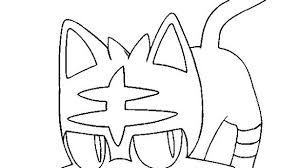 Litten Coloring Pages Incredible Pokemon Torracat Sun And Moon