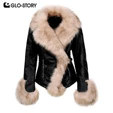 2019 glo story women 2018 wool lined warm leather jackets woman high street fashion fitness winter coats with fur decoration wpy 6527 from meizuang