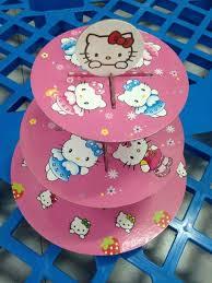 Hello Kitty Cupcake Cupcake Berdiri Pemegang Gadis Anak Perlengkapan