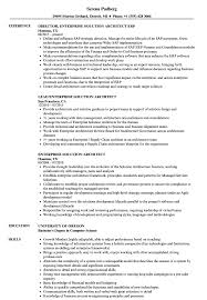 Solutions Architect Resume Enterprise Solution Architect Resume Samples Velvet Jobs 18