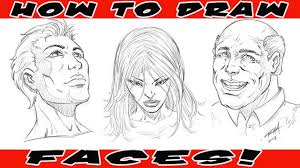 how to draw ic book faces you