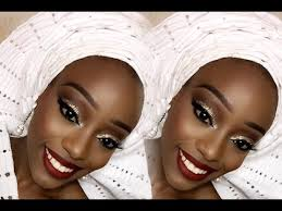 nigerian bride traditional enement makeup gele
