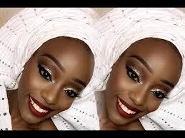 nigerian bride traditional enement makeup gele