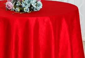 90 red crushed crinkle taffeta tablecloths