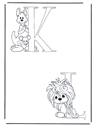 K En L Kleurplaat Alfabet