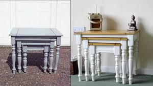 gray furniture paintHow to Nest of Tables Refurb  RustOleum Furniture Paint  YouTube