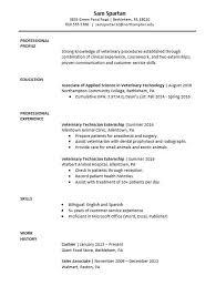 Veterinary Resumes Sample Resume Vet Tech Major Cover Letter For Resume
