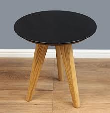 mmilo wagen round coffee table b black