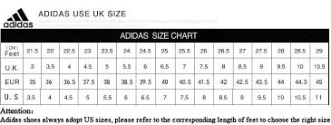 Adidas Chart Shoes Adidas Shoe Size Chart Uk Www Bedowntowndaytona Com