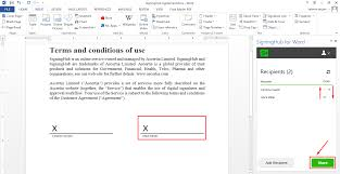 How To Digitally Sign A Word Document Share A Document For Signing Signinghub For Word