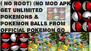 unlimited POKEMONs Poke BALLS (no root ,no mod APK)from official POKEMON go  game - YouTube