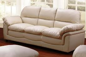 image of cream leather reclining sofa