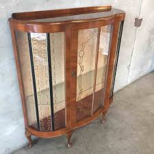rhdistrictcookiecom worthy curved glass curio cabinet bowed s m for home decor arrangement rhdistrictcookiecom antique with jpg