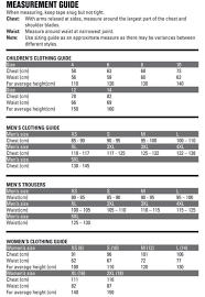 Female Size Chart Australia Buying Guides Ridgeline Clothing Size Chart