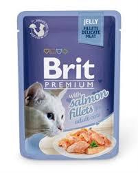 """<b>Brit</b> - <b>Паучи</b> для кошек """"Кусочки из филе лосося в желе"""" <b>JELLY</b> ..."""