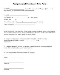 Best Collection Of Promissory Note Templates Word