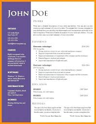 Modern Formatted Resume Templates Resume Template Free Creative Download Basic Templates On