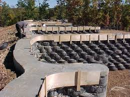 used tire building foundation