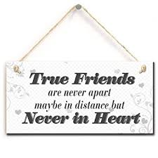 Amazon Long Distance Friendship Quotes True Friends Are Never Awesome Quotes About Friendship And Distance