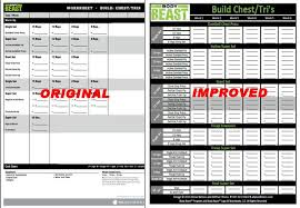 body beast worksheets new and improved body beast workout sheets to track your progress aren t these much better update they are now even better than