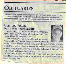 Newspaper Obituary Template 4 Newspaper Obituary Template Teknoswitch
