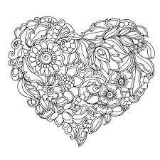 Coloring Pages Heart Page Color Wings To Hello Valentine Hearts