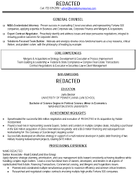 sample resume resume lawyer bar admissions - Sample General Counsel Resume