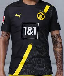 Borussia dortmund release new jersey for 2020/21 45 weeks ago borussia dortmund have revealed their new kit for the 2020/21 season, which they call an elegant, stormy design. Shop 2020 21 Dortmund Away Soccer Jersey Cheap Soccer Jerseys For Sale Gogoalshop