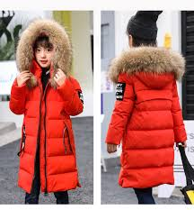 Купить mioigee 2018 winter children s down jacket coats girl s long ...