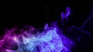 Purple And Blue Mixed Smoke Black Background